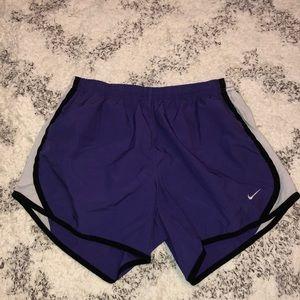 Purple Nike dri-fit shorts